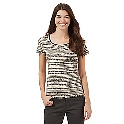 Maine New England - Beige pebble print top