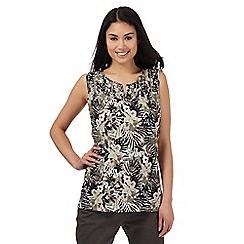 Maine New England - Multi-coloured tropical floral print top