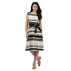 Maine New England - Multi-coloured striped print dress