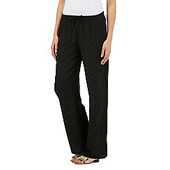Maine New England - Black dotted diamond print trousers