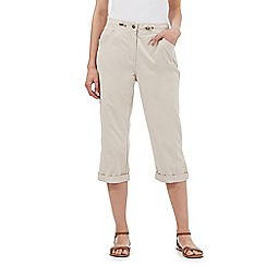 Maine New England - Beige ribbed waist trousers