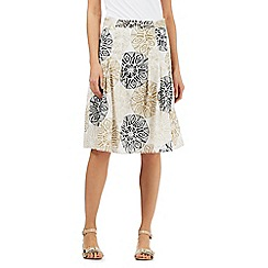 Maine New England - Cream circle print skirt