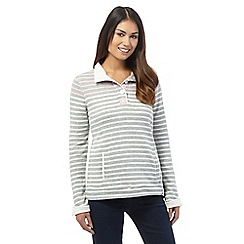 Maine New England - Grey striped sweater