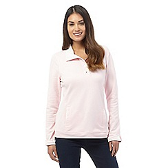 Maine New England - Pale pink polo collar sweater