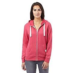 Maine New England - Dark pink zip hoodie