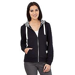 Maine New England - Navy pink zip hoodie