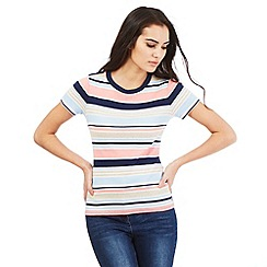 Maine New England - Peach striped top