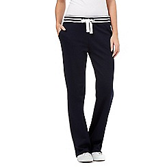 Maine New England - Navy striped waist jogging bottoms