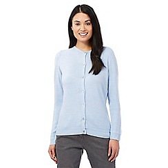 Maine New England - Pale blue button cardigan