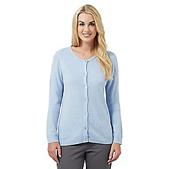 Maine New England - Light blue cable knit cardigan