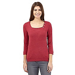 Maine New England - Dark pink square neck jumper