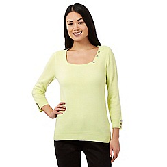 Maine New England - Lime square neck jumper