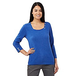 Maine New England - Bright blue square neck jumper