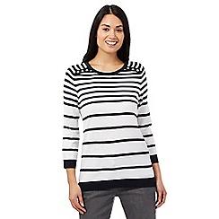 Maine New England - Navy striped jumper