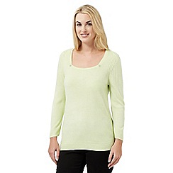 Maine New England - Lime ultra-soft square neck jumper