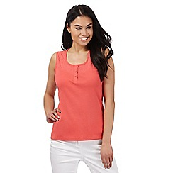 Maine New England - Coral lace trim vest top
