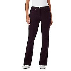 Maine New England - Dark purple five pocket stretch trousers