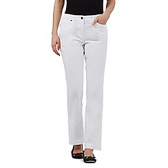 Maine New England - White five pocket stretch trousers