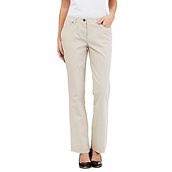 Maine New England - Beige five pocket stretch trousers