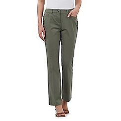 Maine New England - Khaki five pocket stretch trousers