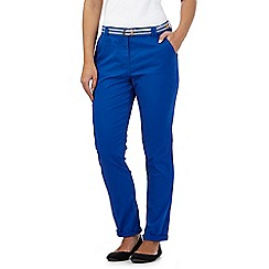 Maine New England - Blue striped belt casual chinos