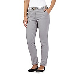 Maine New England - Grey striped belt casual chinos