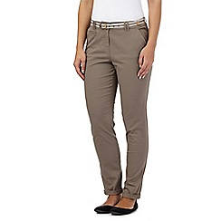Maine New England - Brown striped belt casual chinos