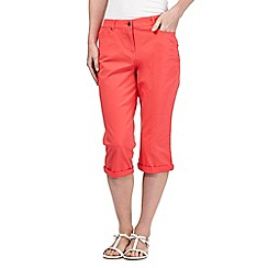 Maine New England - Peach five pocket cropped trousers
