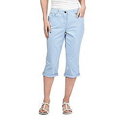 Maine New England - Light blue five pocket cropped trousers