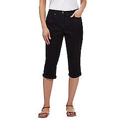 Maine New England - Black five pocket cropped trousers