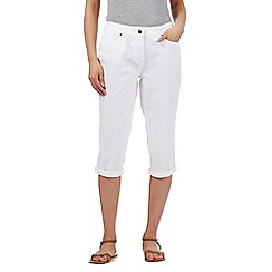 Maine New England - White five pocket cropped trousers