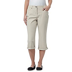 Maine New England - Beige five pocket cropped trousers