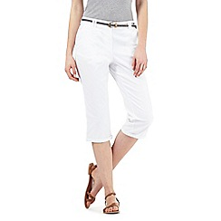 Maine New England - White belted cropped chinos