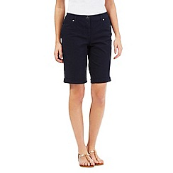 Maine New England - Navy roll up shorts