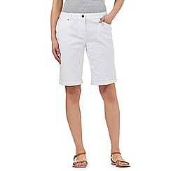 Maine New England - White bi-stretch shorts