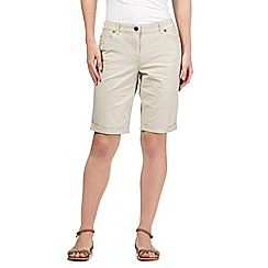 Maine New England - Cream five pocket cropped trousers