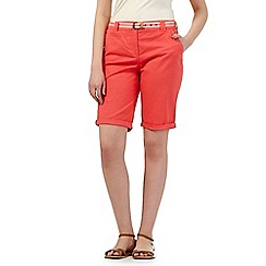 Maine New England - Peach belted chino shorts
