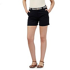 Maine New England - Navy belted chino shorts