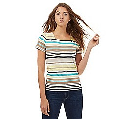 Maine New England - Multi-coloured striped square neck top