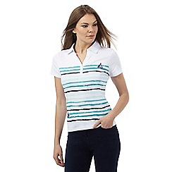 Maine New England - White striped boat print top