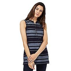 Maine New England - Light blue striped print tunic