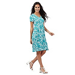 Maine New England - Turquoise floral print dress