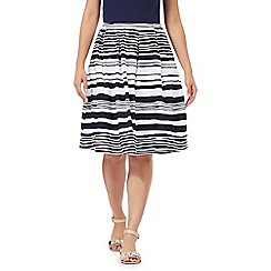 Maine New England - Navy striped A-line skirt