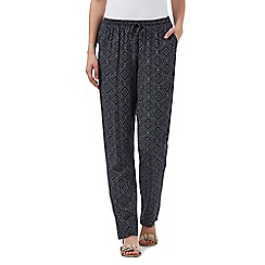 Maine New England - Navy dotted print trousers