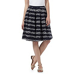 Maine New England - Navy rope print skirt