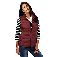 Maine New England - Dark red padded pack away gilet
