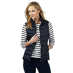 Maine New England - Navy padded packaway gilet