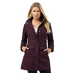 Maine New England - Dark purple fleece lined parka coat