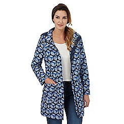 Maine New England - Blue spot print fleece lined parka jacket