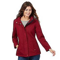 Maine New England - Dark red fleece lined jacket